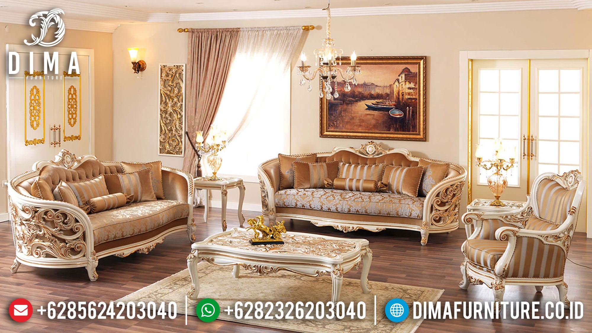 Elegant Style Sofa Tamu Mewah Terbaru Luxurious Deluxe Model Furniture Jepara Mm-0989