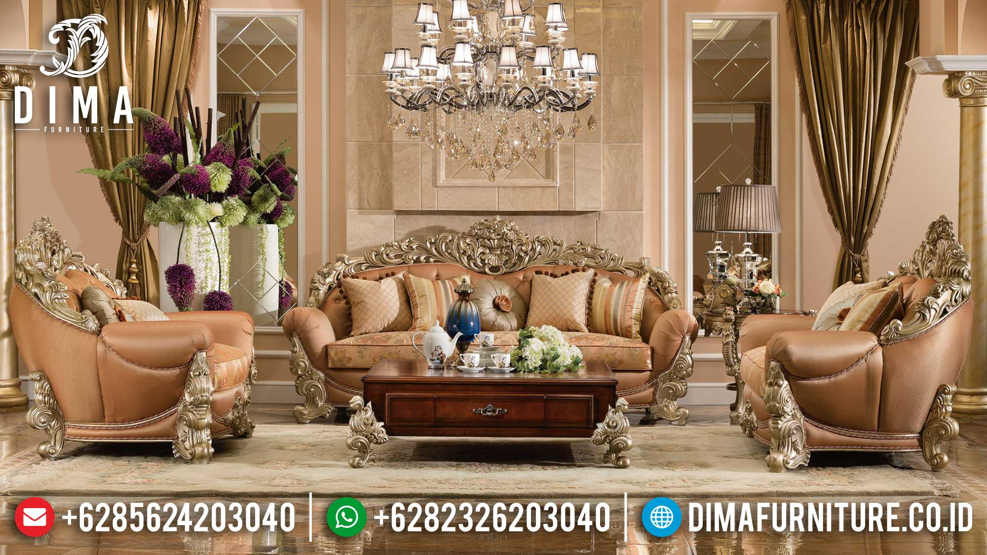 Europan Set Sofa Tamu Mewah Jepara Classic Luxury Glorious Design Mm-0990