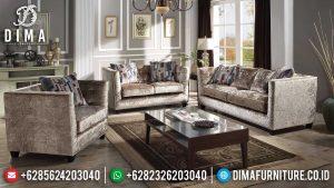 Excellent Fabric Sofa Tamu Minimalis Jepara Terbaru Natural Jati Perhutani MM-0976