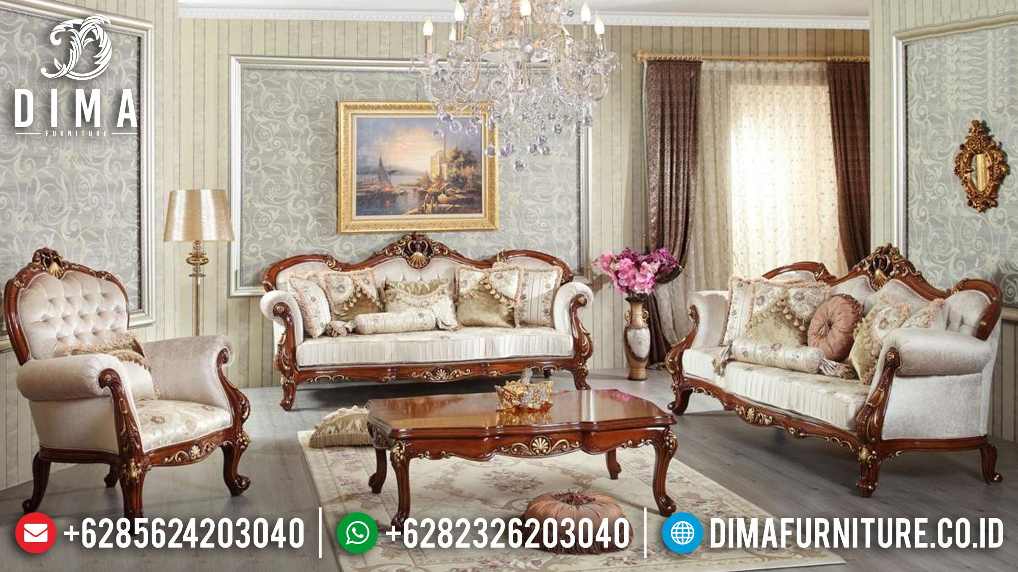 Glorious Set Sofa Tamu Mewah Jepara Luxury Model Furniture Jepara Terbaru Mm-0916