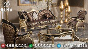 Harga Sofa Tamu Mewah Terbaru Luxury Classic Carving Black Golden Premiere Color MM-0946
