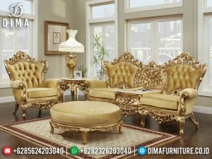 High Class Sofa Tamu Jepara Mewah Terbaru Golden Shine Color Luxury MM-0908