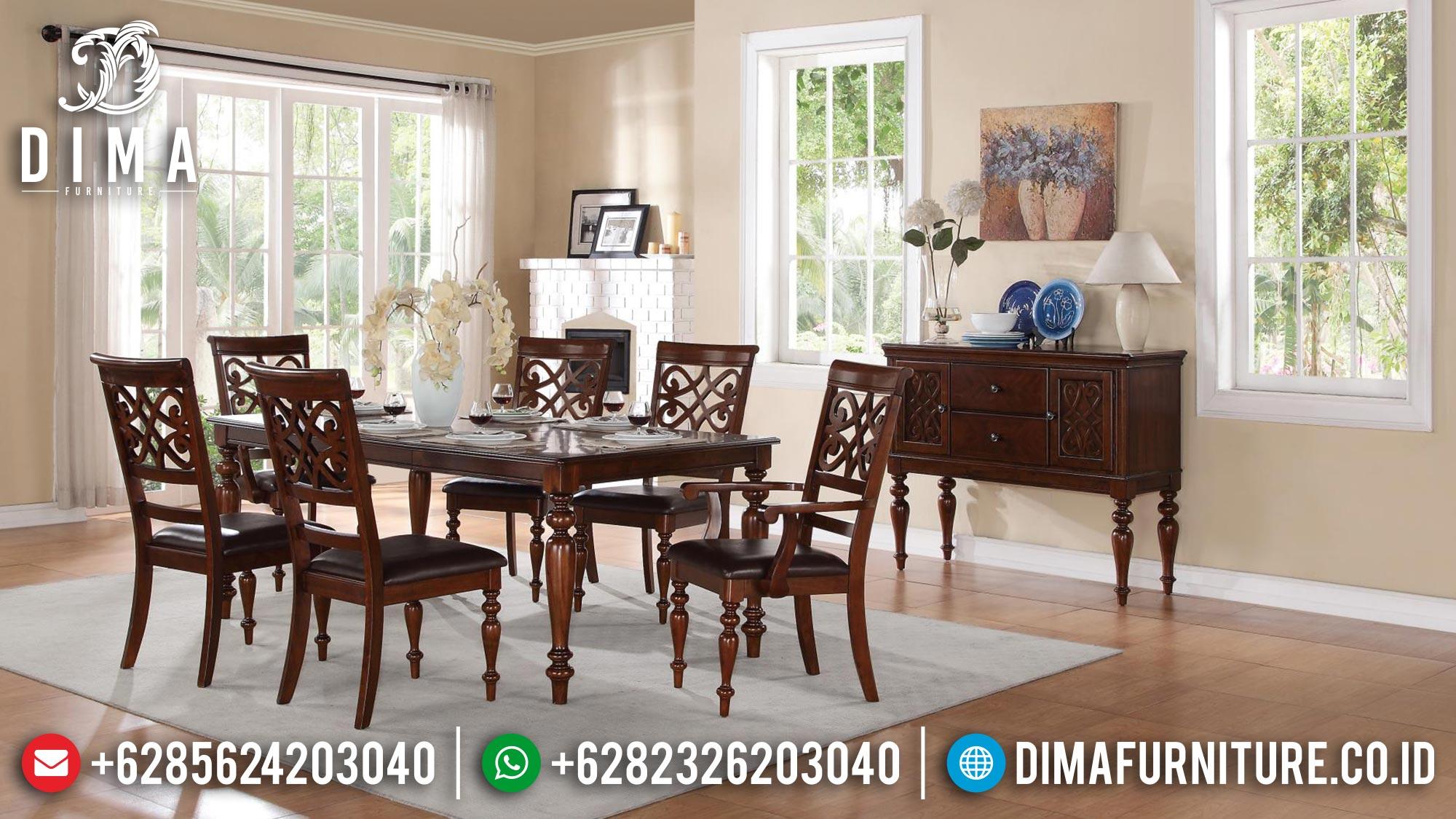 Jual Meja Makan Minimalis Classic Natural Jati Perhutani Great Solid Wood Mm-0996