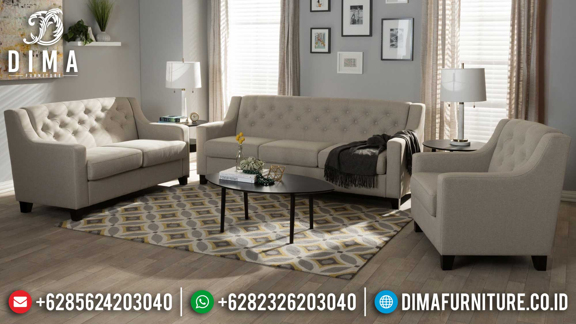 Jual Sofa Ruang Tamu Minimalis New Style Classic Luxurious Set Mm-0893