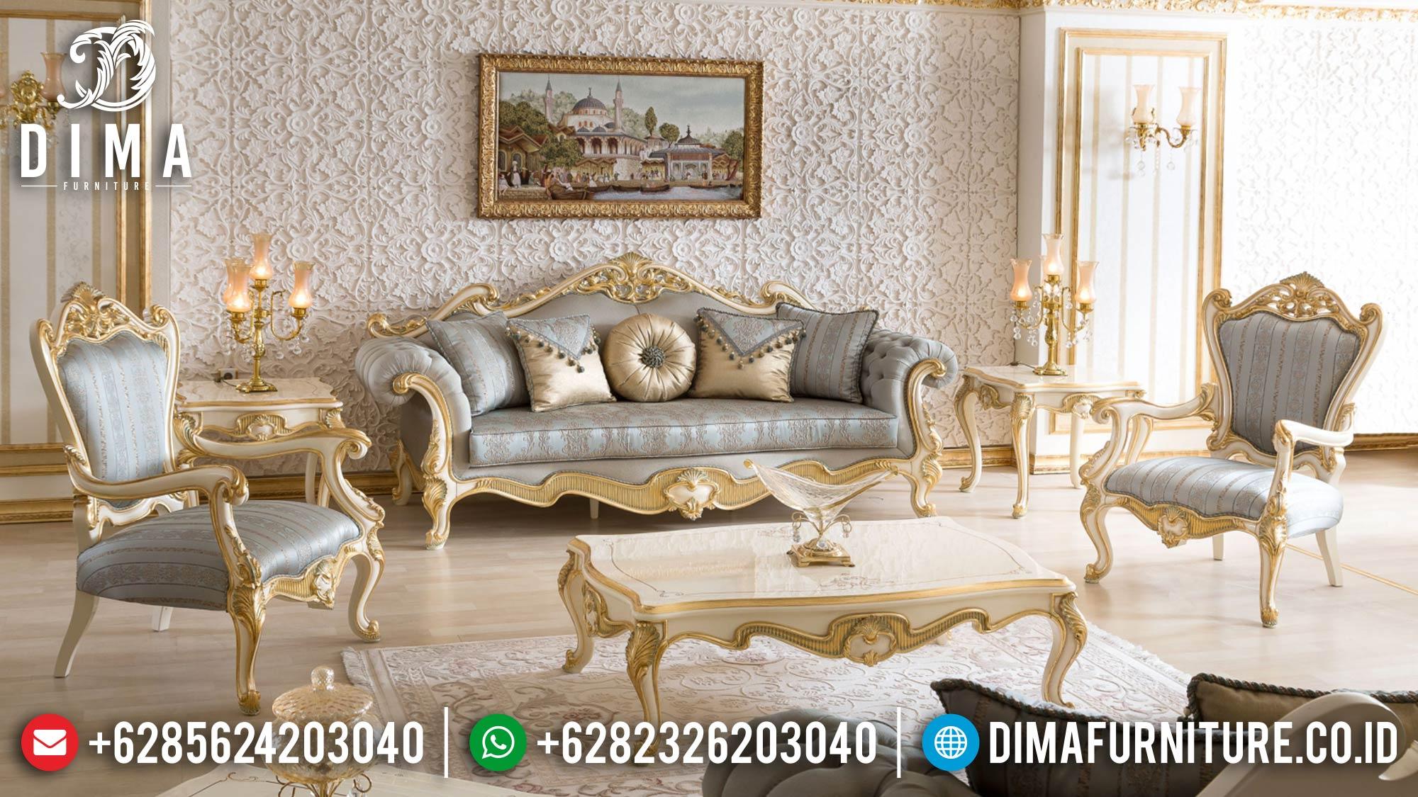 Majestic Style Sofa Tamu Ukiran Mewah Luxury Golden Carving Combination Mm-0965