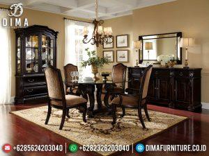 New Meja Makan Klasik Jepara Luxury Natural Jati Perhutani Great Wood MM-1008