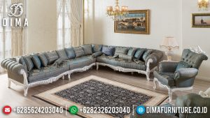 New Model Sofa Tamu Sudut Ukiran Mewah Jepara Luxurious Set MM-0922