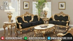New Set Sofa Tamu Jepara Ukiran Classic Luxury Kayu Perhutani Berkualitas MM-0906