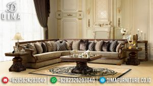 New Sofa Tamu Sudut Minimalis Glamorous Design Luxury Jepara MM-0890