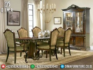 Sensational Style Meja Makan Jepara Classic Luxury Design Natural Jati Perhutani MM-1016
