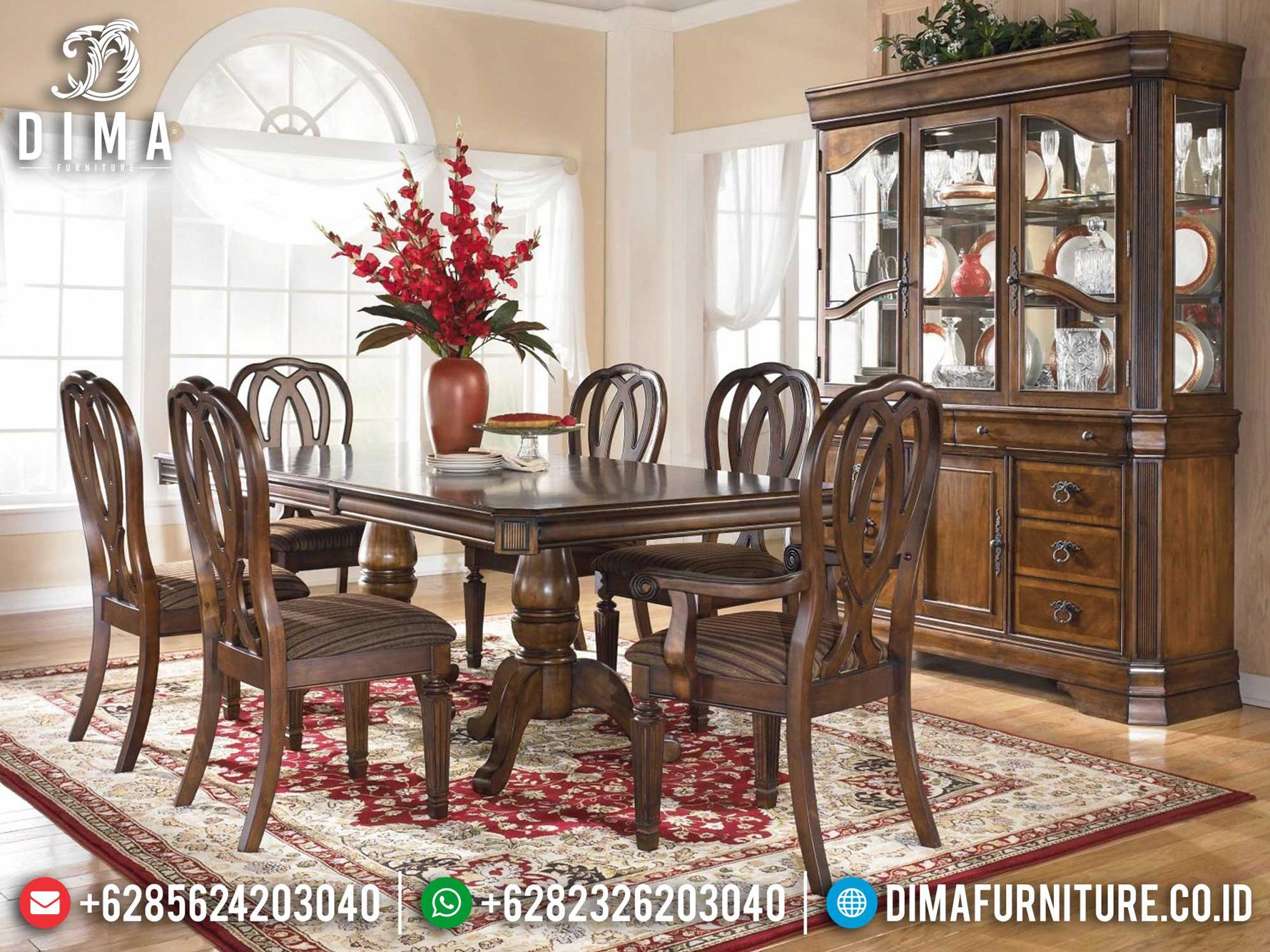 Set Meja Makan Mewah Classic Luxury Wonderful Design Furniture Jepara Mm-1017