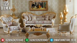 Set Sofa Tamu Mewah Luxury Carving Golden Bright Color Glossy Top Coat MM-0912