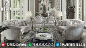 Set Sofa Tamu Mewah Terbaru Luxury Carving Great Solid Wood Furniture Jepara MM-0903
