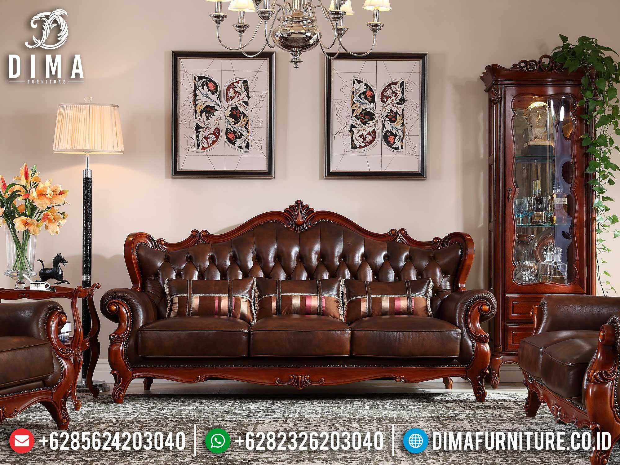 Set Sofa Tamu Mewah Ukiran Jepara Luxury Carving Classic Best Sale Mm-0909