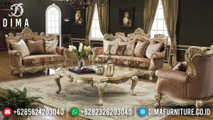 Set Sofa Tamu Ukiran Jepara Luxury Elegant Design Furniture Jepara Terbaru MM-0980