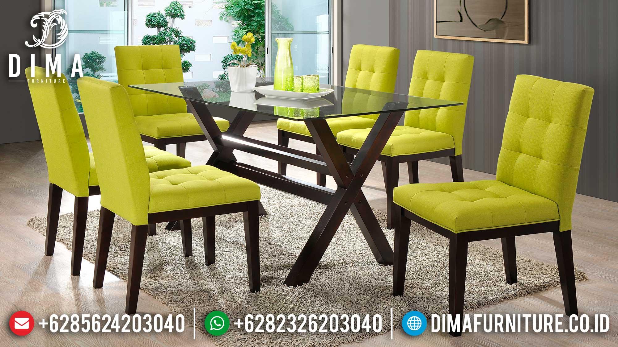 Simplifield Set Meja Makan Jati Minimalis Natural Rustic Style Furniture Jepara Mm-1026