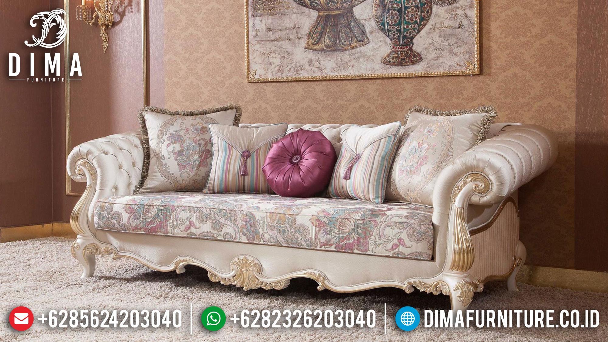 Sofa Mewah 3 Dudukan Luxury Classic Carving Beautiful Style Terbaru Mm-0904