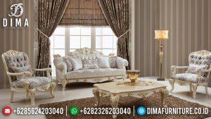 Sofa Tamu Jepara Luxury Carving Classic Great Solid Wood Perhutani MM-0993