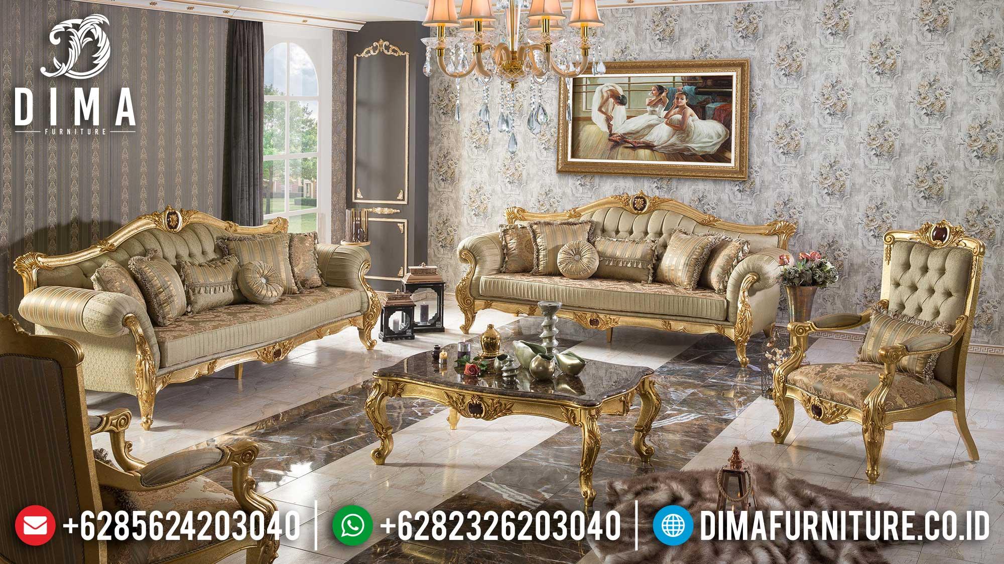 Sofa Tamu Mewah Jepara Golden Shine Luxury Color Furniture Jepara Terbaru Mm-0959