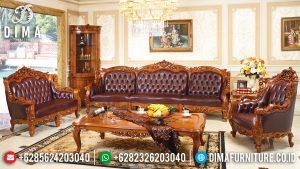 Sofa Tamu Mewah Jepara Kayu Jati Natural Perhutani Classic Luxury MM-0940
