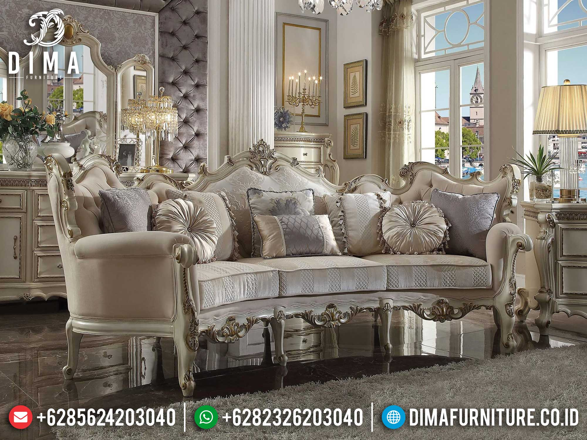 Sofa Tamu Mewah Terbaru Classic Adorable Design Luxury Furniture Jepara Mm-0898