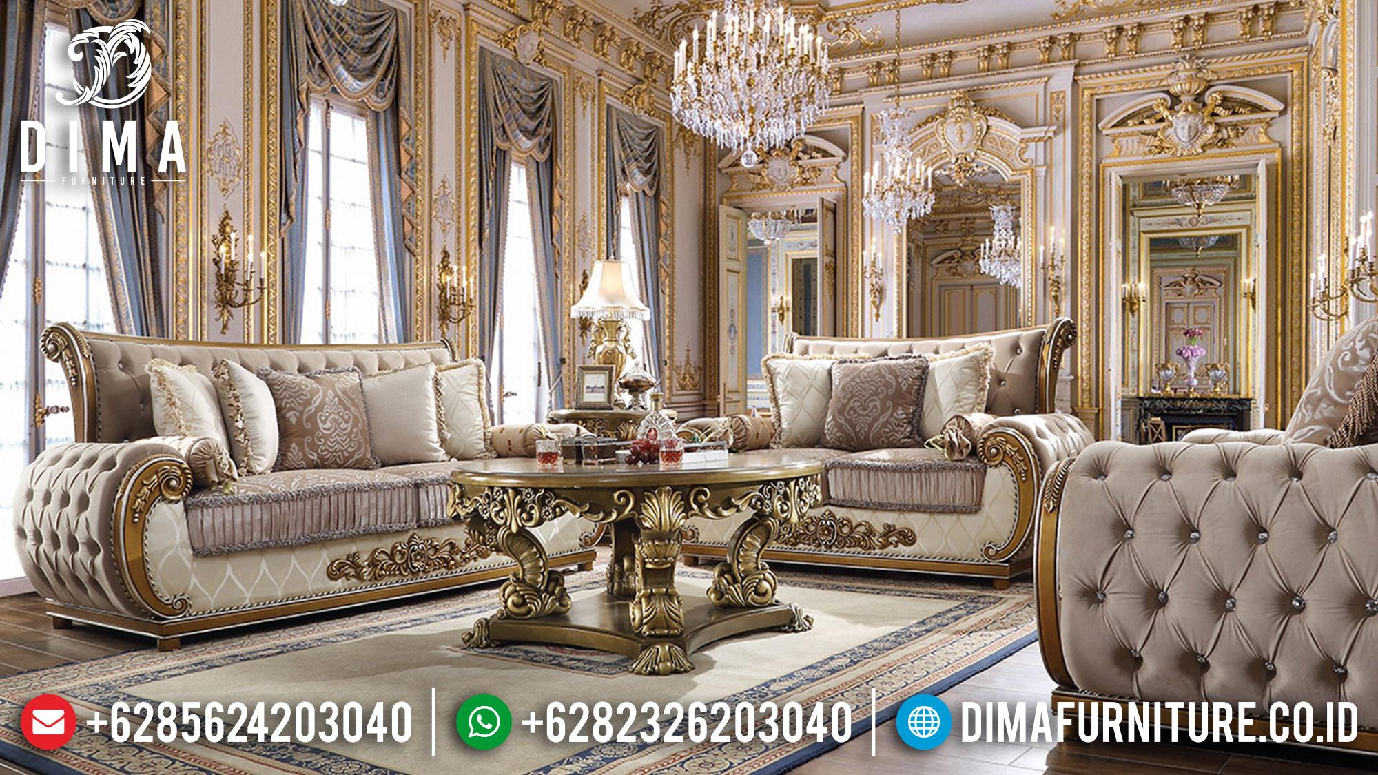 Sofa Tamu Mewah Terbaru Premiere Luxury Design Furniture Jepara Mm-0947