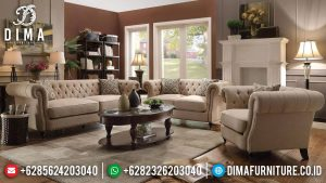 Sofa Tamu Minimalis Chester Classic Luxury Old Design Elegant MM-0888