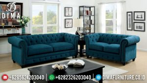Sofa Tamu Minimalis Chesterfield High Quality Foam Soft Fabric MM-0880