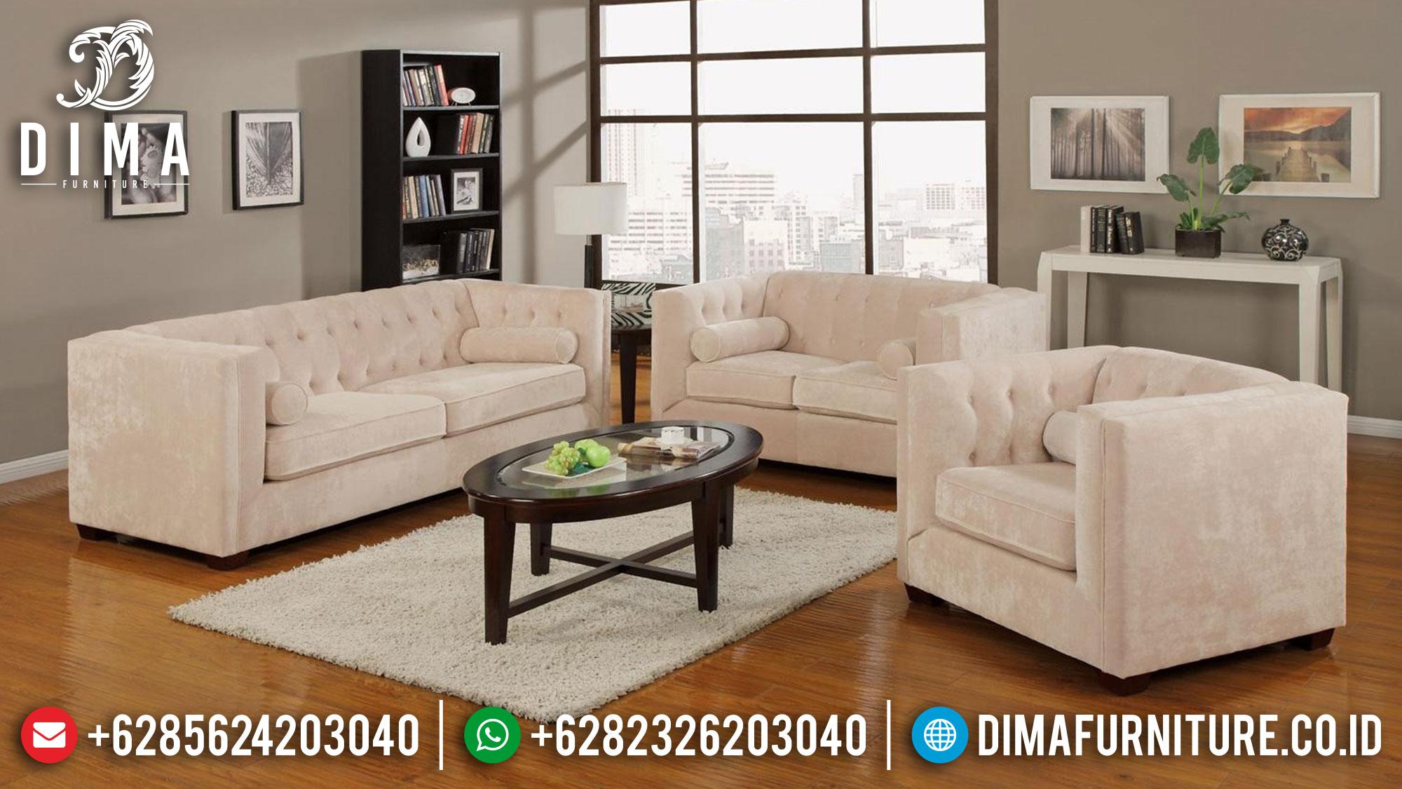 Sofa Tamu Minimalis Elegant, Sofa Tamu Jepara Simple Design Furniture Jepara Mm-0889