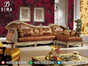 Sofa Tamu Sudut Jepara Glamorous Classic Luxury Style Furniture Jepara MM-0901