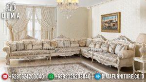 Sofa Tamu Sudut Mewah Jepara Luxury Carving Best Quality Item MM-0948