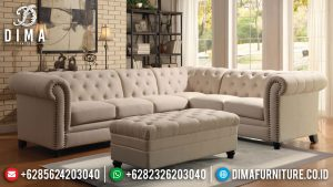 Sofa Tamu Sudut Minimalis Terbaru Simple Classic Luxury Design MM-0883