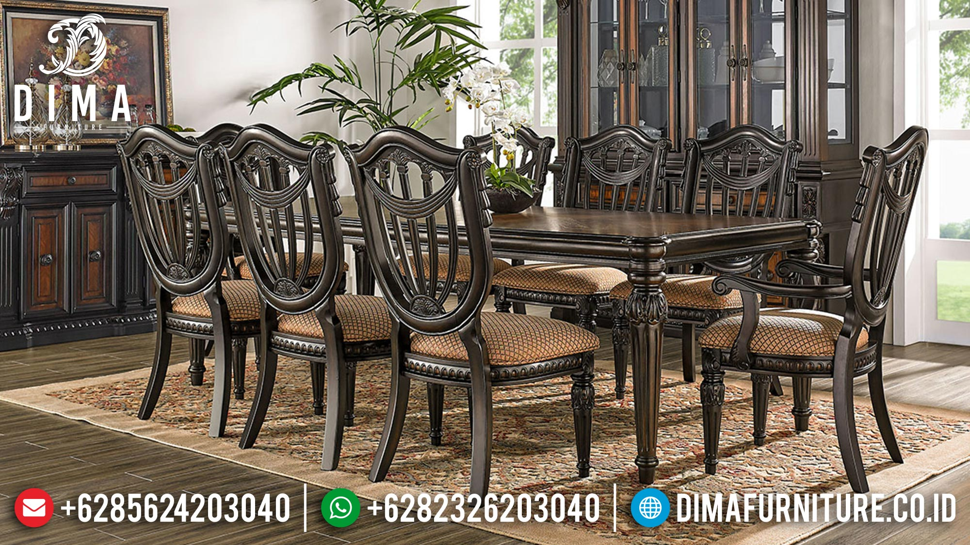 Beauty Design Meja Makan Minimalis Classic Furniture Jepara Luxury Mm-1056