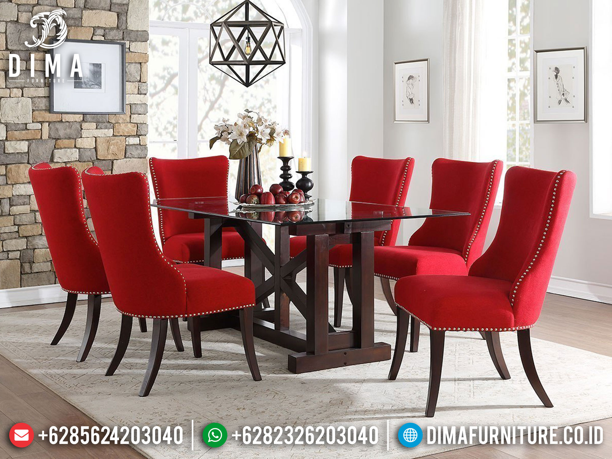 Exotic Style Meja Makan Minimalis Modern Luxury Furniture Jepara Mm-1071