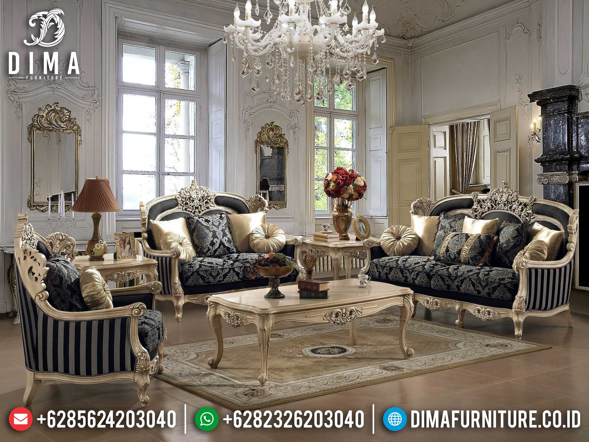 Harga Sofa Tamu Jepara Terbaru Luxurious Design Italian Carving Palace MM-1081