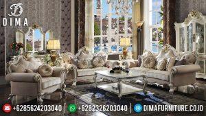 Loveseat Sofa Ruang Tamu Mewah Luxury Design New White Duco Color MM-1061