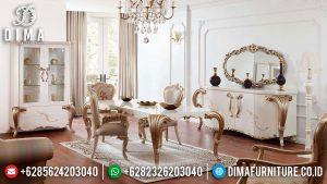 Meja Makan Mewah Ukiran Jati Classic Luxury Furniture Jepara Terbaru MM-1026