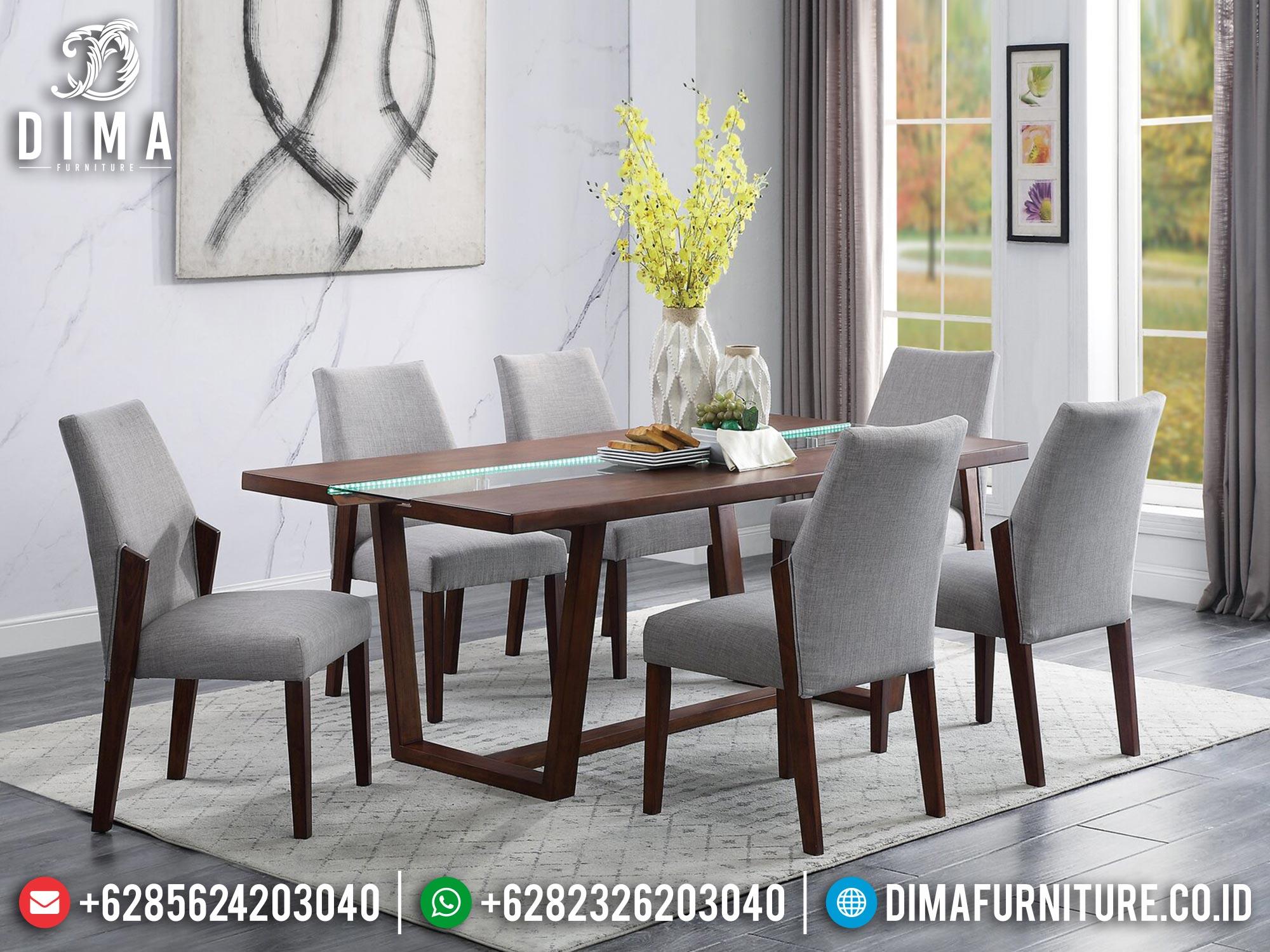 Meja Makan Minimalis 6 Kursi Natural Classic Salak Brown Color Lovely Mm-1069