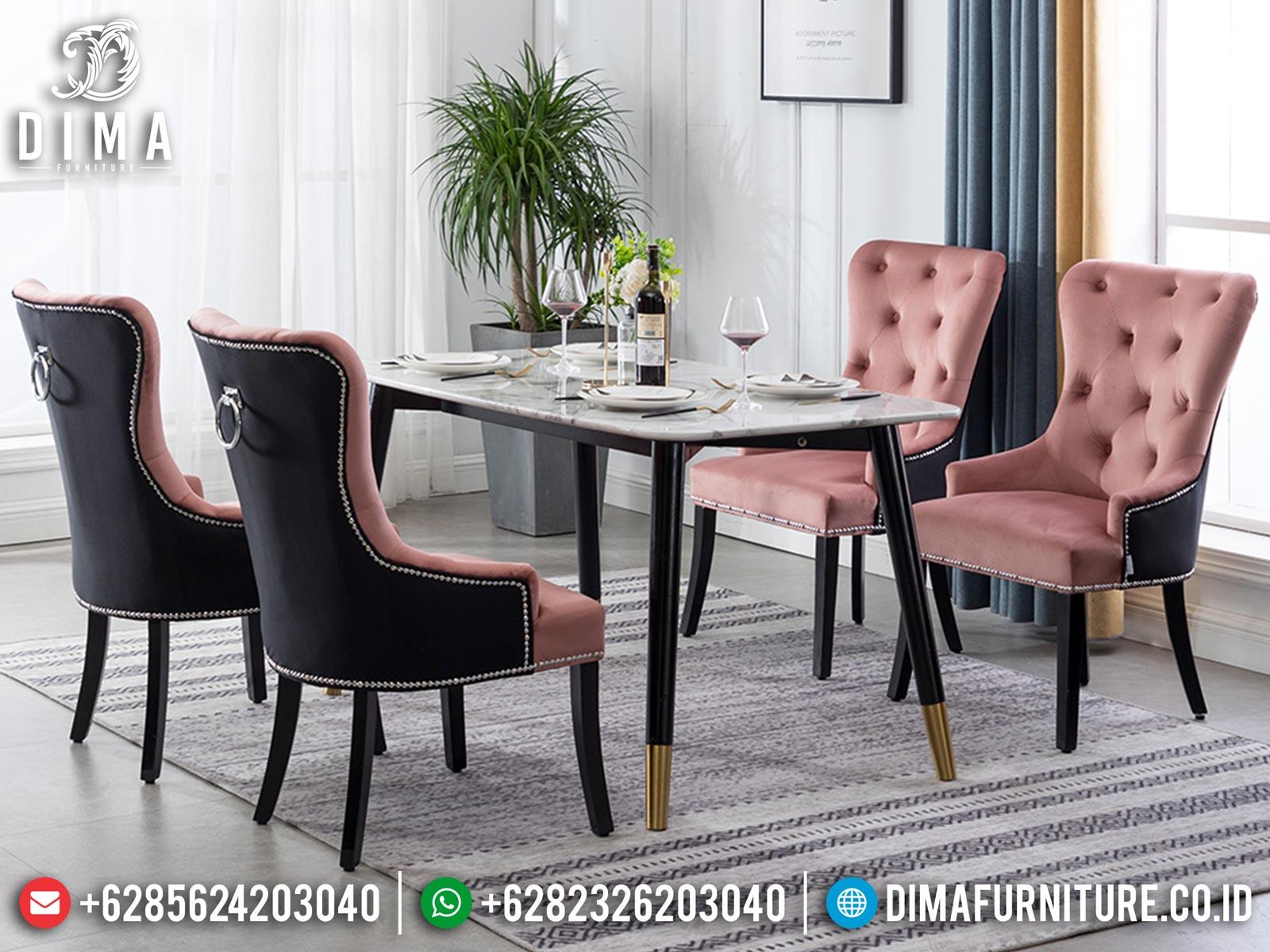 Meja Makan Minimalis Kursi 4 Luxury Simple Design Furniture Jepara Mm-1045