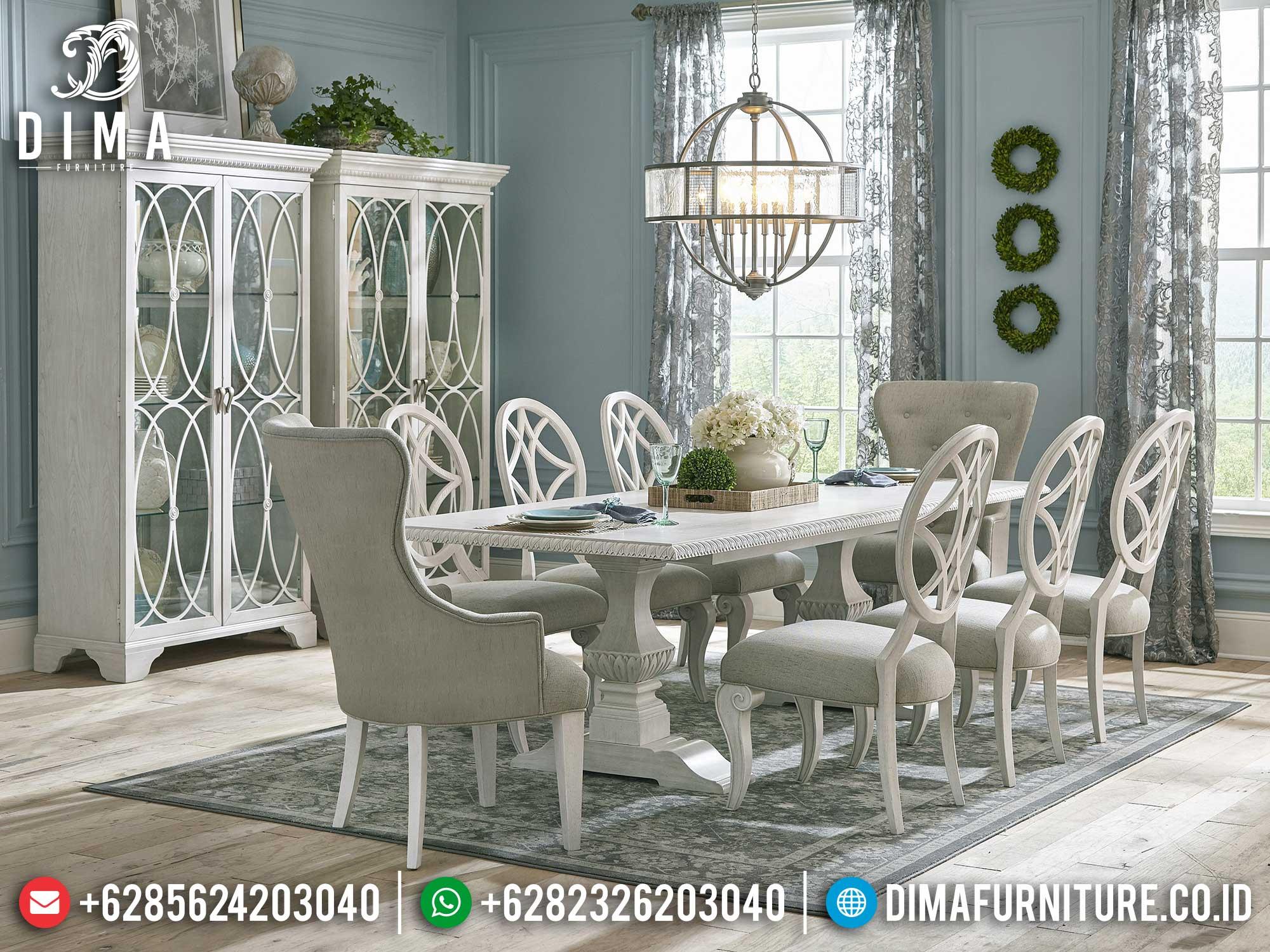 Meja Makan Minimalis Putih, Meja Makan Jepara Simplifield, Furniture Jepara Luxury Mm-1050