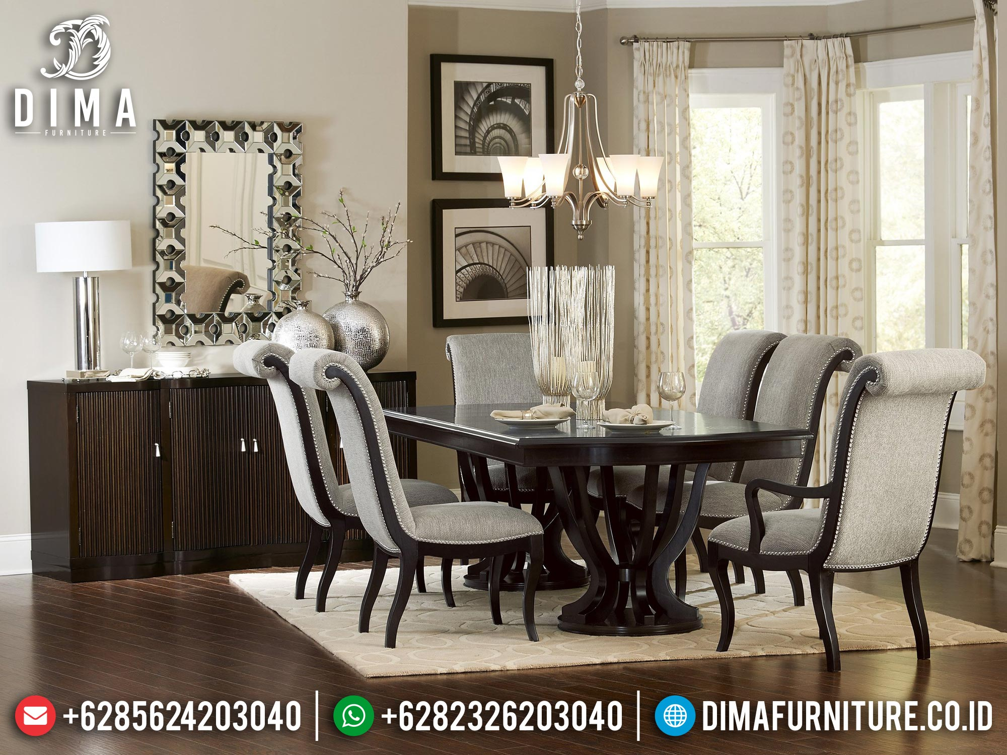 Meja Makan Minimalis Terbaru Furniture Jepara Desain Extraordinary Mm-1041