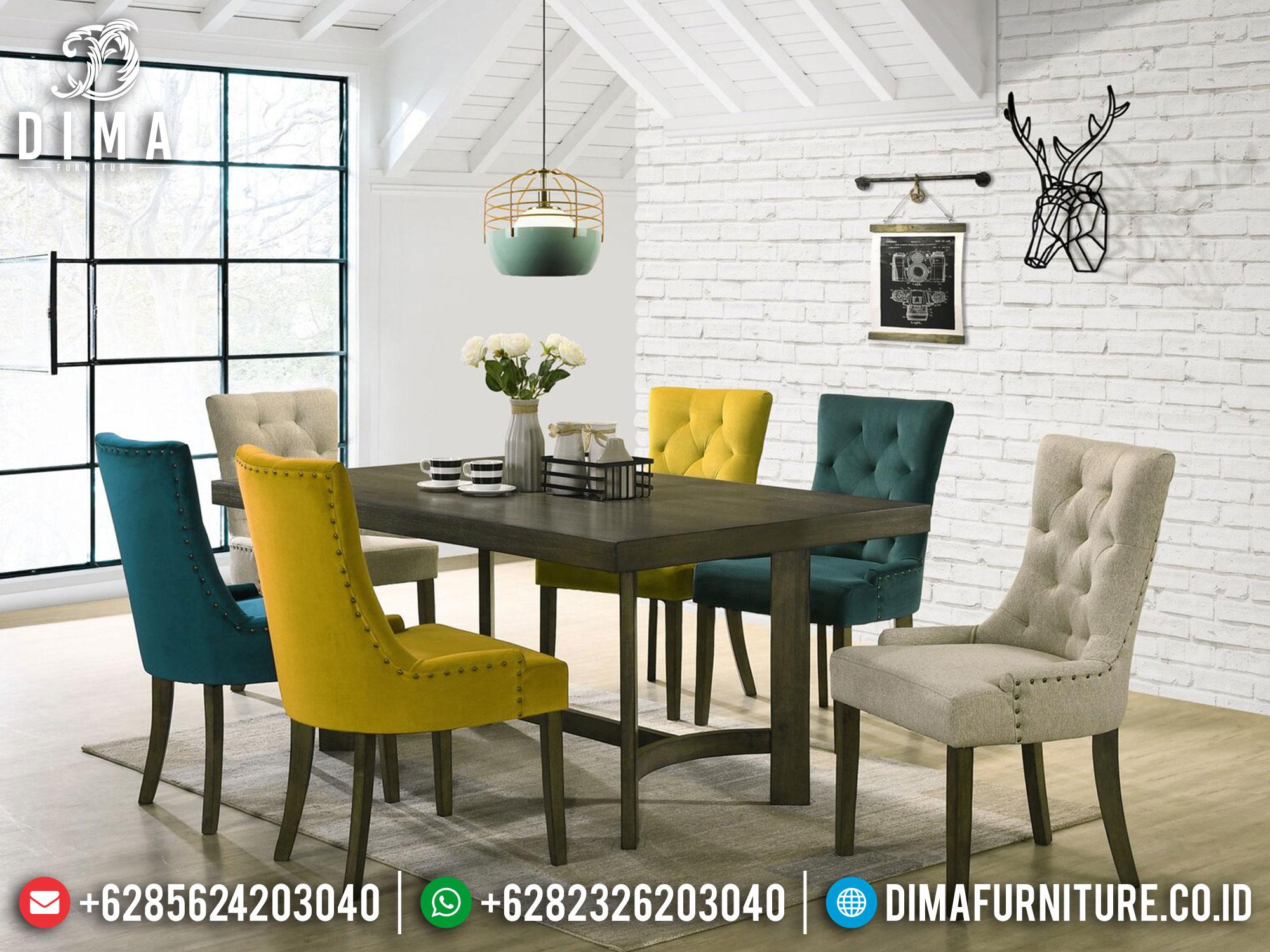 New Meja Makan Minimalis Jati Natural Salak Brown Furniture Jepara Classic Mm-1064