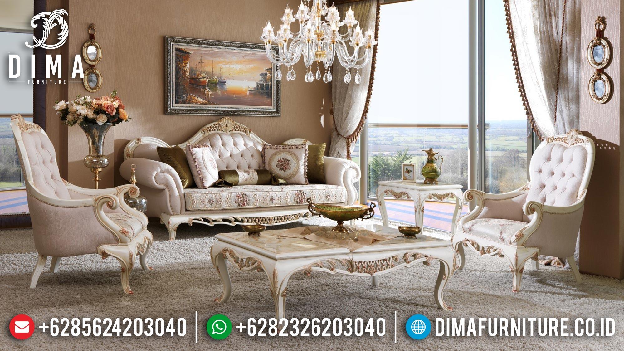 New Set Sofa Tamu Mewah Luxury Carving Classic Furniture Jepara Terbaru Mm-1059