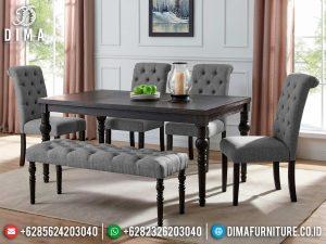 Set Meja Makan Jati Minimalis Natural Salak Brown Furniture Jepara Luxurious MM-1073
