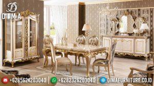 Set Meja Makan Ukiran Mewah & Kursi Makan Mewah Classic Luxury Comfortable Design MM-1029
