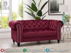 Sofa Tamu Chesterfield Minimalis, Sofa Tamu Minimalis Luxury, Sofa 2 Dudukan Modern MM-1097