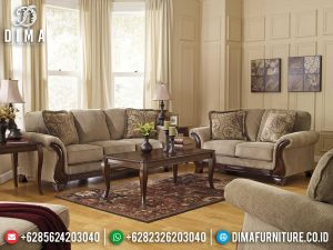 Sofa Tamu Jepara Kayu Jati Natural Classic Salak Brown Furniture Jepara Terlaris MM-1080