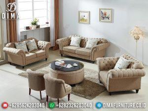 Terbaru!!! Set Sofa Tamu Minimalis Jepara Elegant Fabric Beludru Color Furniture Jepara MM-1094