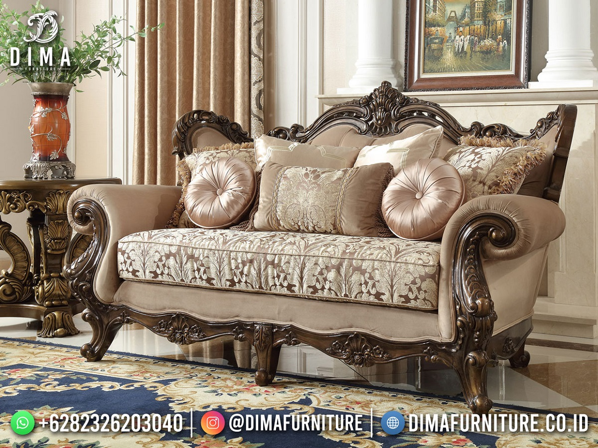 Best Seller Desain Sofa Mewah Jati Natural Furniture Jepara Mm-1101