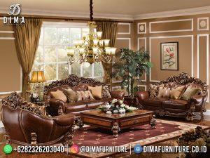 Luxury Carving Sofa Tamu Jepara Natural Jati Good Quality MM-1099